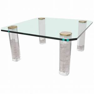 1970s glass top coffee table on lucite legs for sale at With lucite coffee table legs