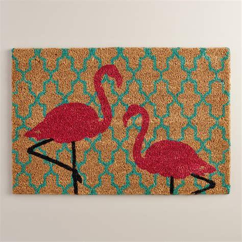 Flamingo Doormat flamingo coir doormat world market