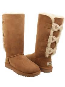 ugg bailey knit bow sale ugg womens bailey knit bow boots in chestnut
