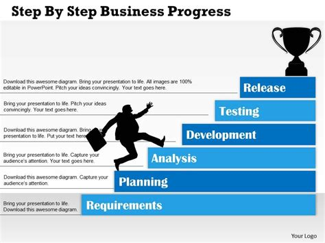 step by step template 0314 business ppt diagram step by step business progress powerpoint template