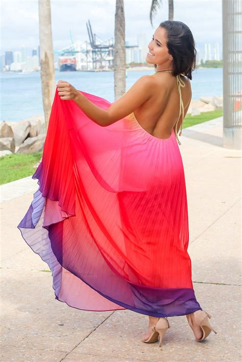 colored maxi dresses multi colored pleated maxi dress maxi dresses saved by