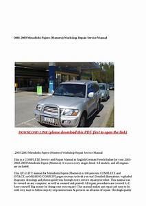 2001 2003 Mitsubishi Pajero  Montero  Workshop Repair