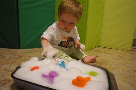 developmental activities   month  babies sudsy fun