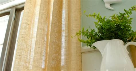 shabby chic curtain tutorial how to make curtains using burlap shabby chic curtain tutorial and no sew