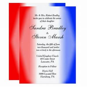 red white and blue wedding invitations announcements With red and white wedding invitations uk