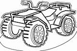 Quad Atv Coloring Transportation Pages Printable Drawing Drawings sketch template