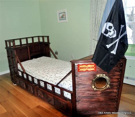 custom  twin size pirate ship bed  ds artistic