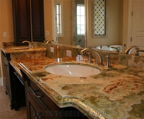 multicolor green onyx vanity top  united states