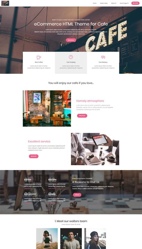 Ecommerce Template Mobirise by Free Website Builder Software