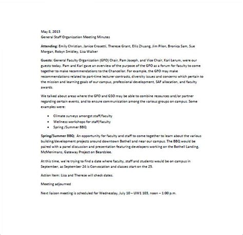 staff meeting minutes template   word excel