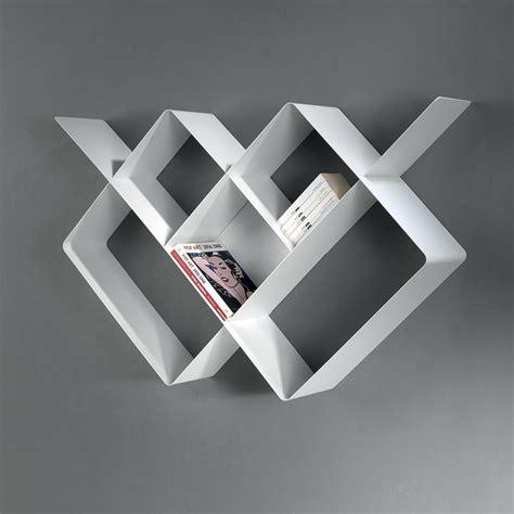 canape design italien étagère murale design loft 125 82 cm métal blanc