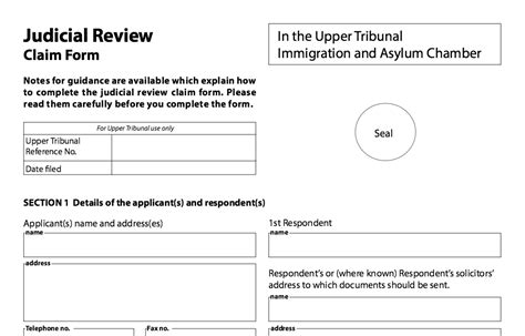 judicial review claim form immigration judicial reviews right to remain