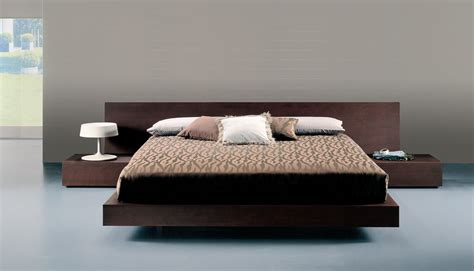 Contemporary Beds, Beauteous Upholstered Queen Size Low