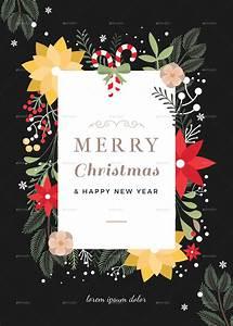 45 Christmas Premium  U0026 Free Psd Holiday Card Templates For
