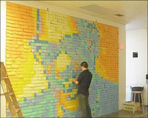 Post It Art : post it notes and marketing art ~ Frokenaadalensverden.com Haus und Dekorationen