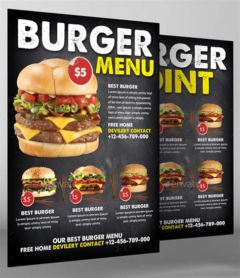 burger menu designs templates psd indesign
