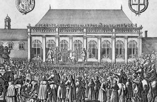 The Famous Execution Of Charles I Took Place At Banqueting