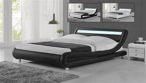 White Low Bed Frame by Modern Designer Led Low Bed Frame Single King Size