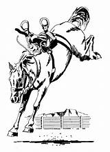Horse Bucking Clipart Horses Bronc Saddle Drawings Clip Coloring Western Cartoon Pages Riding Animals Wpclipart Pencil Rider Drawing Line Bronco sketch template