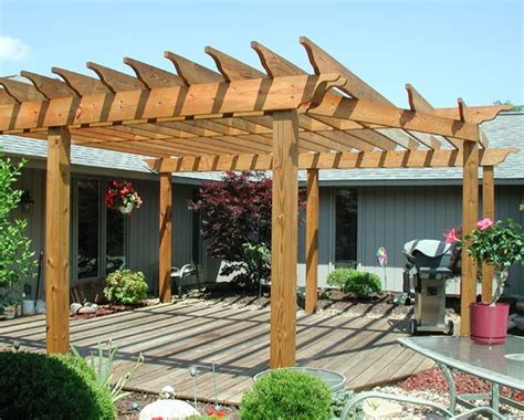 custom wood pergola  elyria fence