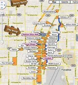 2017 Las Vegas Strip Map