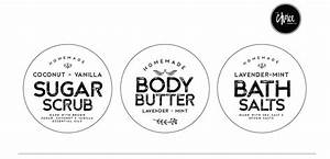 black and white peppermint sugar scrub label pictures to With body butter label template