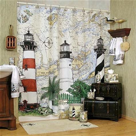 Cheap Lighthouse Bathroom Decor by Shower Curtains Seaside Interior Decorating