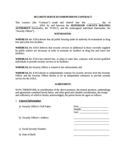 Staging Contract Template Free Independent Agreement Template One