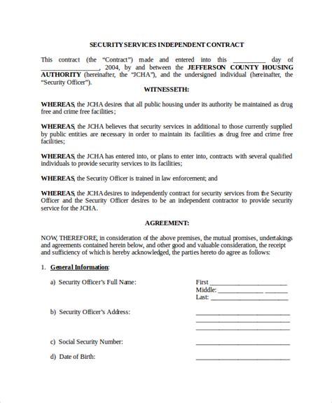 contractor bid agreement template one