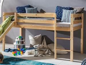 Hochbett Mit Zwei Betten : hochbett mit rutsche kimball 90x200 kiefer lackiert massivholz bett wohnbereiche schlafzimmer ~ Whattoseeinmadrid.com Haus und Dekorationen
