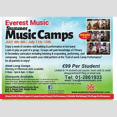 Everest Music Bray  News Everest Music Summer Camps  Running This July