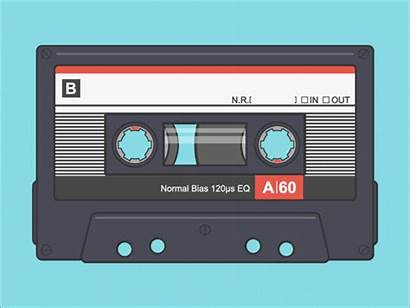 Cassette Tape Retro Animated Tapes Animation History