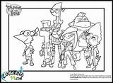 Ferb Phineas Coloring Pages Google Printable Wars Star Characters Madison Adventure Colouring Perry Printables Drawings Colors Boys Team sketch template