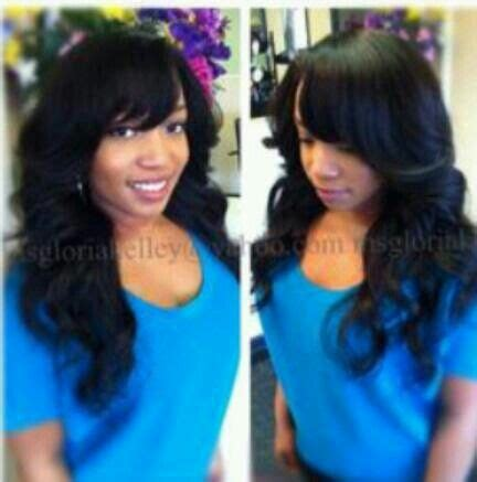 Sew In Weave Hairstyles With Side Bangs by Sew In With Weave Hair Hair Styles