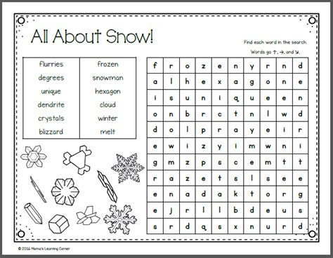 january word search packet mamas learning corner