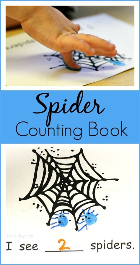 printable spider counting book   preschool spider