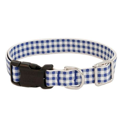 With a touch of English charm, our gingham dog collar ...