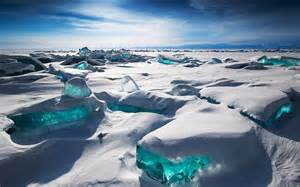 Blue Ice Siberia Lake Baikal