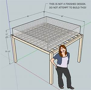 wood - What header joist sizes do I need for a loft bed