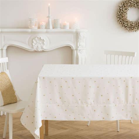 tischdecke und servietten aus leinen und baumwolle mit mini sternenjacquard tisch