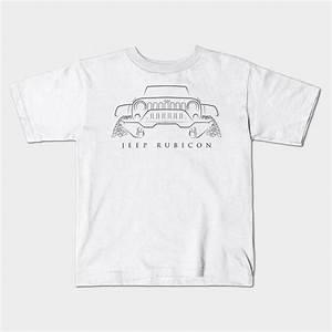 Jeep Wrangler Rubicon Stencil Jeep Kids T Shirt