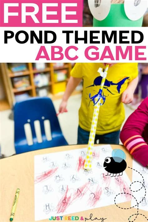 alphabet game   preschool pond theme