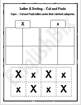 letter  cut  paste activity worksheet englishbix