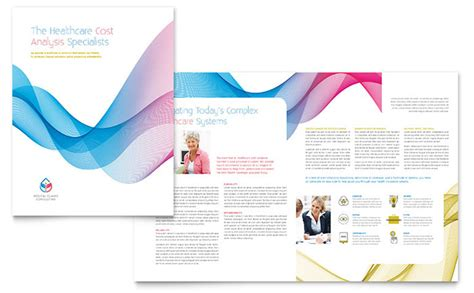 Templates For Brochures Microsoft Word by Insurance Consulting Brochure Template Word Publisher