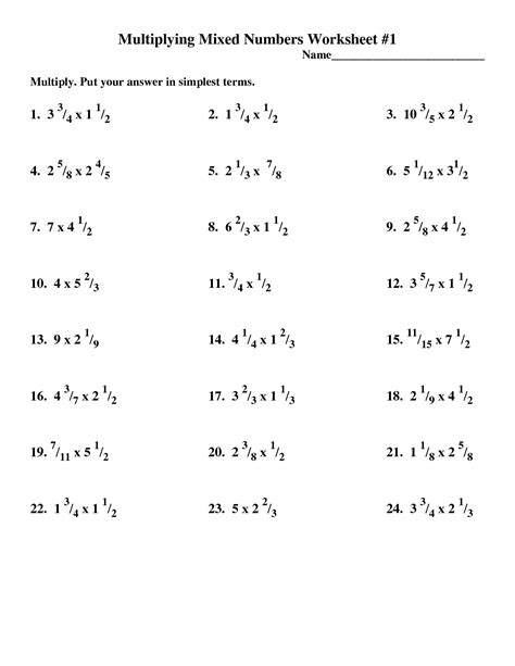 multiplying mixed numbers worksheet 4th grade adding and subtracting mixed numbers worksheets 5th grade