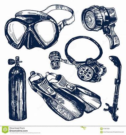 Regulator Scuba Diving Sketch Equipment Clipart Tank