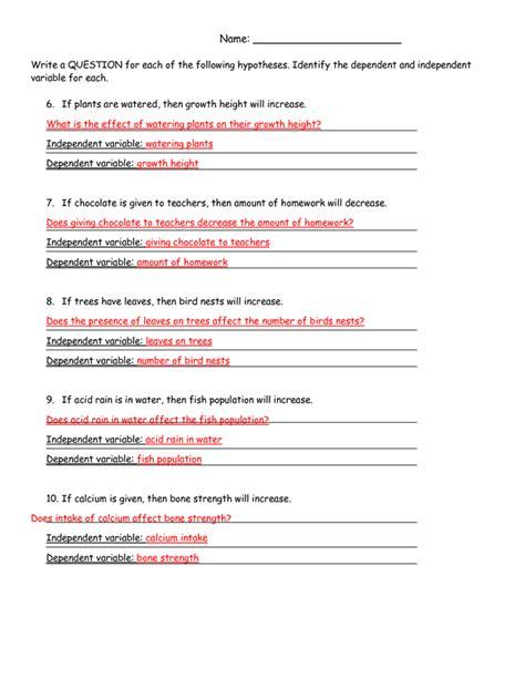 scientific method steps examples worksheet zoey