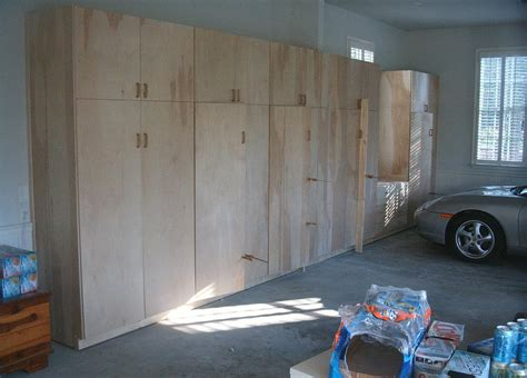Kitchen Storage Ideas For Small Spaces - unfinished custom diy wood wall garage cabinets for large garage spaces with concrete floor