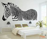 trending zebra wall decals Zebra Wall Decal by Chamber Decals - Eclectic - Wall ...