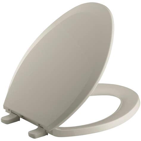 KOHLER Lustra Elongated ClosedFront Toilet Seat in